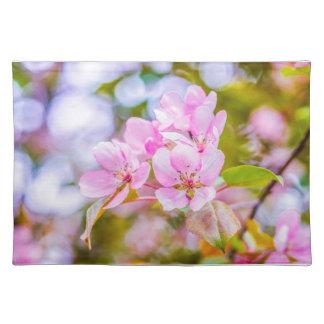 Rosa Apple blühen Stofftischset