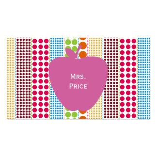 Rosa Apple Boho punktiert Lehrer Visitenkarten Vorlagen