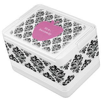 Rosa Apple-Damast cooler für Lehrer Igloo Kühlbox