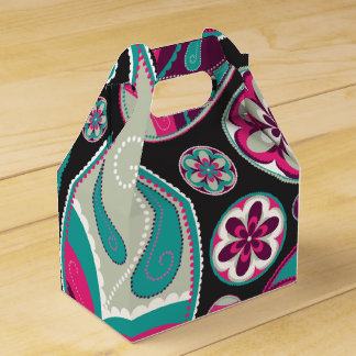 Rosa aquamarines Paisley-Muster Geschenkschachtel