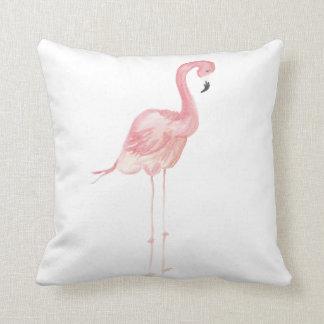 Rosa Aquarell-Flamingo-Wurfs-Kissen Kissen