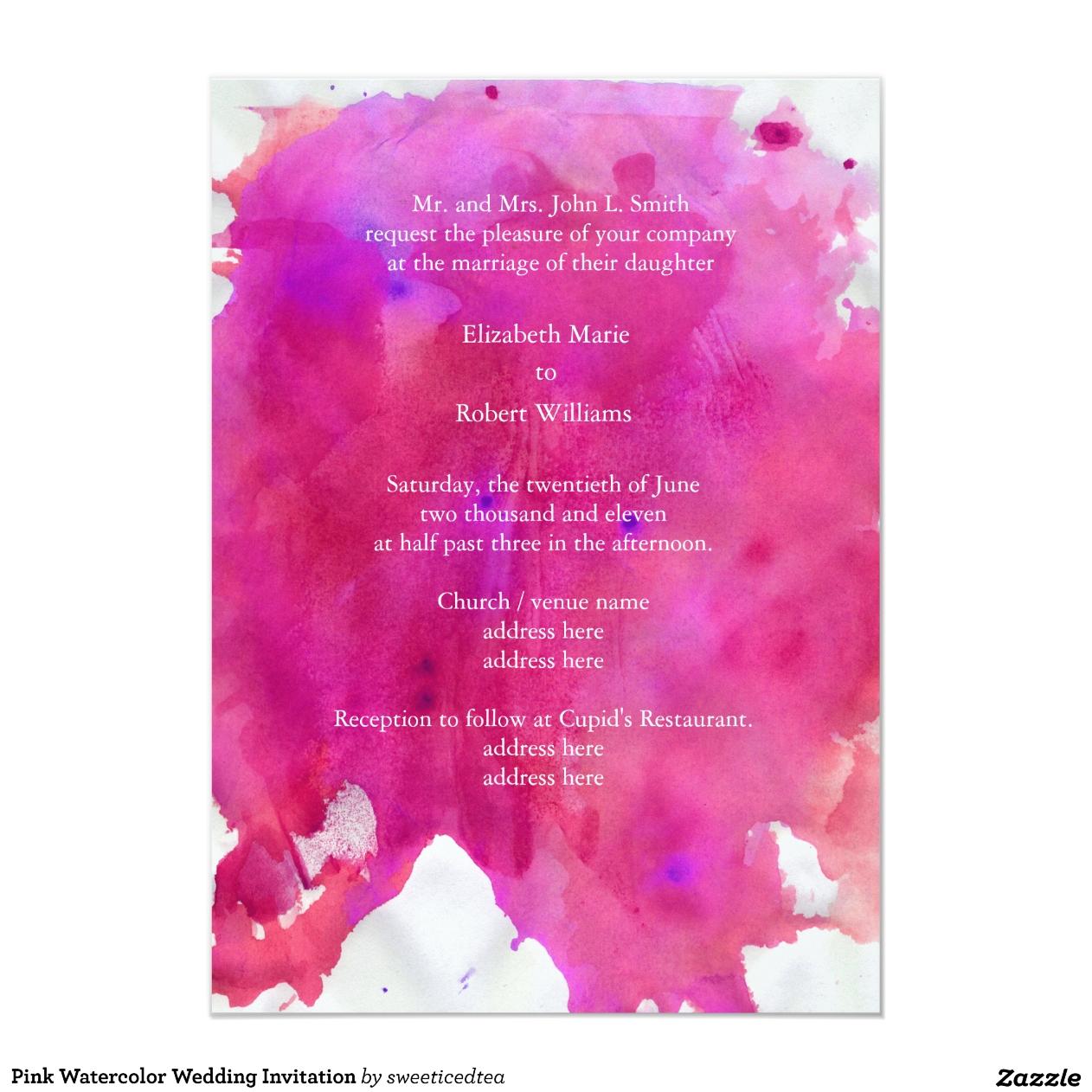Aquarell-Hochzeits-Einladungen