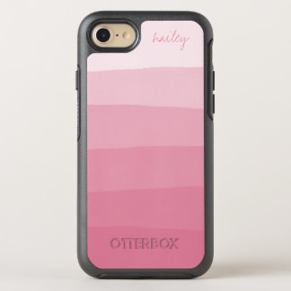 Rosa Aquarell Ombre Steigung | OtterBox Symmetry iPhone 8/7 Hülle