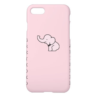 rosa arielle greyxoxo Elefant iPhone 7 Mattfall iPhone 8/7 Hülle