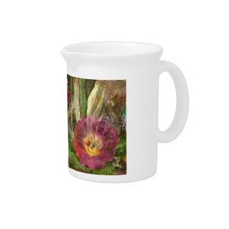Rosa Arizona-Wüsten-Blumen Krug