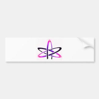 Rosa atheistisches Symbol Autoaufkleber