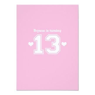 Schön Rosa Athletische 13 Zahl Geburtstags Party 11,4 X 15,9 Cm