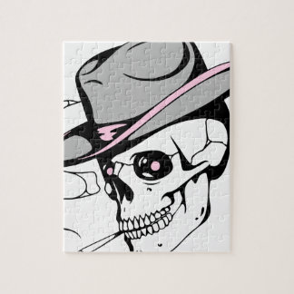 rosa Augenschädel Puzzle