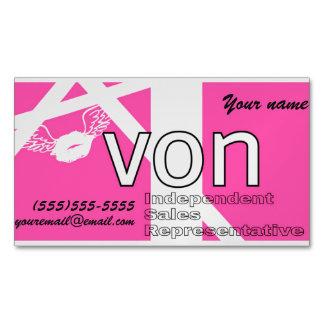 Rosa Avon personalisiert Visitenkartenmagnet