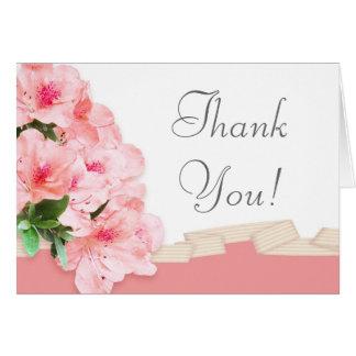 Rosa Azalee u. Band-Hochzeit danken Ihnen Karte