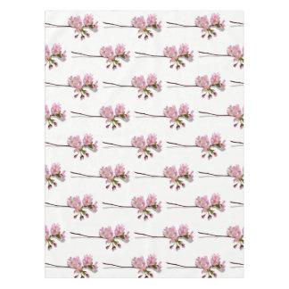Rosa Azalee verzweigt sich weißen die BlumenBlumen Tischdecke