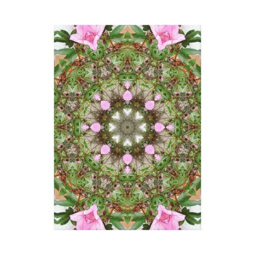 Rosa Azaleen 1E kaleidoscope12 Galerie Falt Leinwand