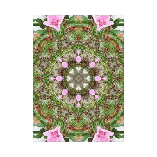 Rosa Azaleen 1E kaleidoscope12 Leinwanddruck