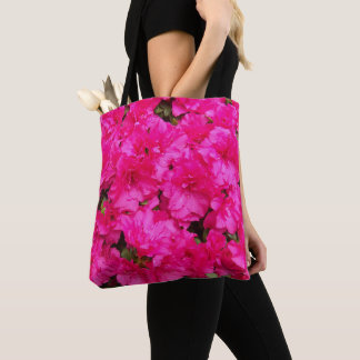 Rosa Azaleen-Blumen mit Blumen Tasche