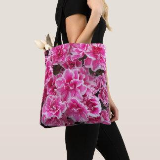 Rosa Azaleen mit Blumen Tasche