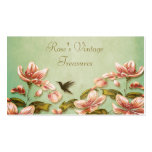 Rosa Azaleen Vintag auf dem grünen Nebel Retro Visitenkartenvorlage