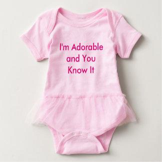 Rosa Baby-Ballettröckchen-Bodysuit Baby Strampler
