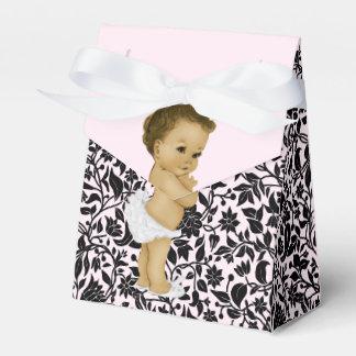 Rosa Baby-Dusche Prinzessin-Afroamerikaner Geschenkschachteln