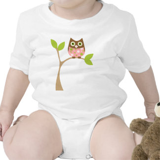 Rosa Baby-Eule T-shirt