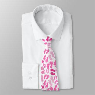 Rosa Baby-Fuß druckt Hals-Krawatte Bedruckte Krawatten