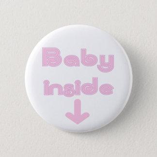 Rosa Baby-Innere - besonders angefertigt Runder Button 5,1 Cm