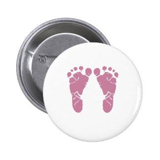 Rosa Babyabdrücke Runder Button 5,1 Cm