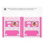 Rosa Babydusche Süßigkeits-Bar-Verpackungs-Gastges Custom Flyer