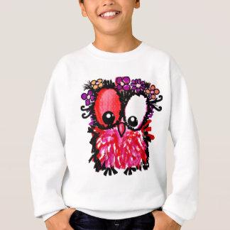 Rosa Babyeulenkunst Sweatshirt