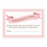 Rosa Babyparty-Windelraffle-Karten-Einsatz Visitenkarten Vorlage