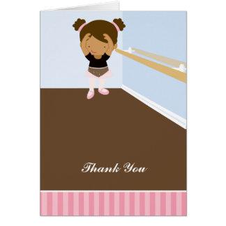 Rosa Ballerinen danken Ihnen Anmerkungen Karte