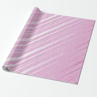 Rosa Ballett-empfindliche Streifen-Pastelllinien Einpackpapier