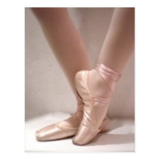Rosa Ballett-Pantoffel Postkarte