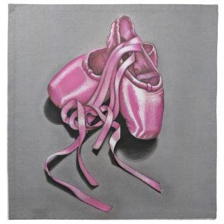 Rosa Ballett-Pantoffel Stoffserviette
