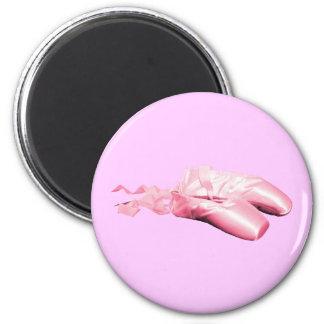 Rosa Ballett-Schuhe Runder Magnet 5,1 Cm