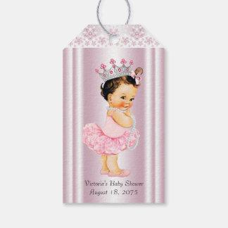Rosa Ballettröckchen-Ballerina-Perle und Geschenkanhänger
