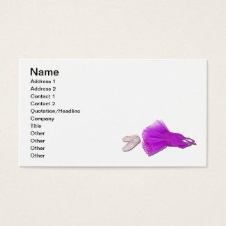 Rosa Ballettröckchen-und Ballett-Pantoffel Visitenkarte