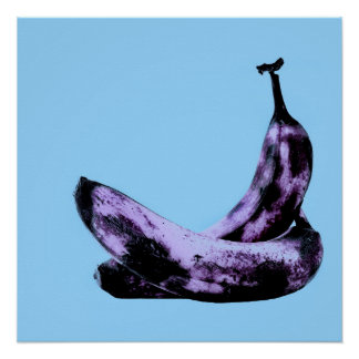 Rosa Bananen-Pop-Kunst Poster