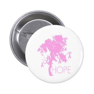 Rosa Band-Baum der Hoffnung Anstecknadel