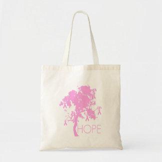 Rosa Band-Baum der Hoffnung Einkaufstasche