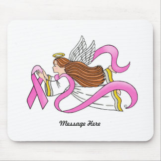 """""""Rosa Band-"""" Bewusstseins-Engel Mousepad"""