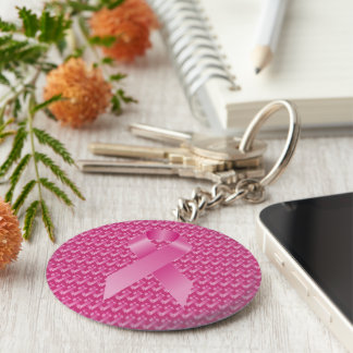 Rosa Band-Brustkrebs-Bewusstsein Schlüsselanhänger
