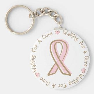 Rosa Band-Brustkrebs, der für eine Heilung geht Schlüsselband