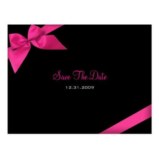 Rosa Band, das Save the Date Mitteilung Wedding Postkarten