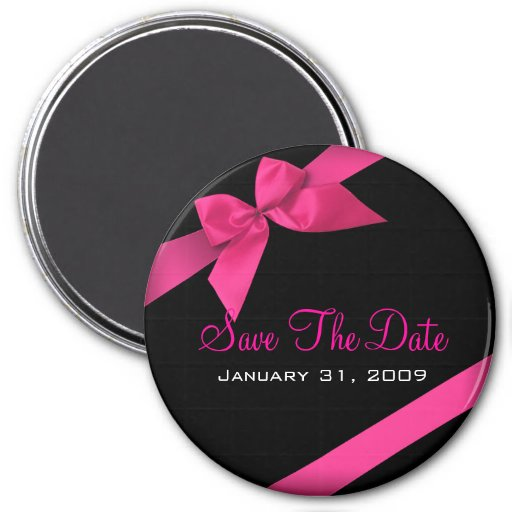Rosa Band, das Save the Date um Wedding ist Magnete