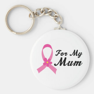 Rosa Band für meine Mama Standard Runder Schlüsselanhänger