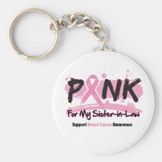 Rosa Band für meinen Schwägerin-Brustkrebs Schlüsselanhänger