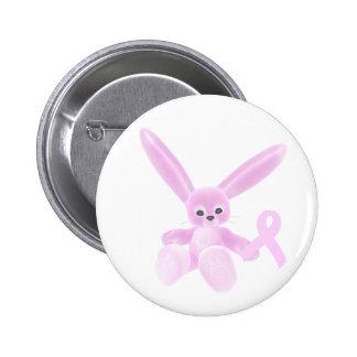 Rosa Band-Häschen Button