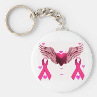 Rosa Band-Herzen Schlüsselband