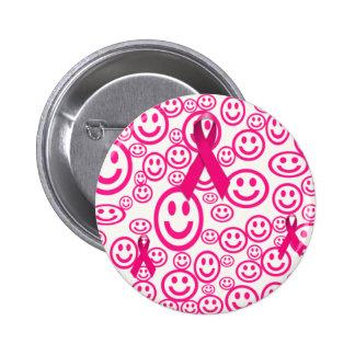 Rosa Band-Lächeln, das helfen Runder Button 5,7 Cm