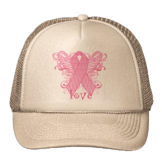 Rosa Band-Liebe-Flügel Baseball Mütze